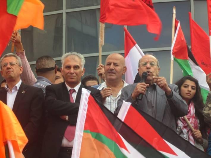 مظاهرة برام الله ضد المفاوضات