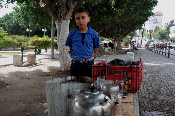 عمالة الاطفال غزة
