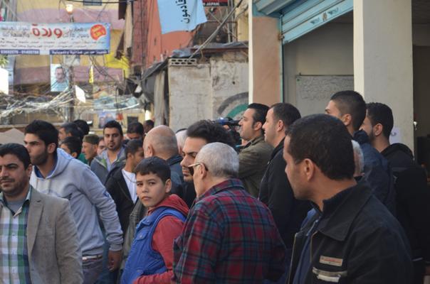 بيروت اعتصام تضامنية مع نائب الامين العام