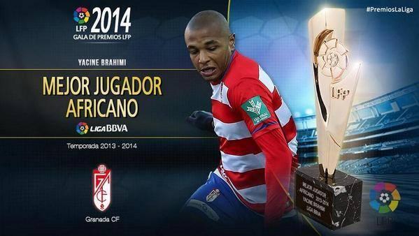 ياسين براهيمي جائزة أفضل لاعب إفريقي بالليجا