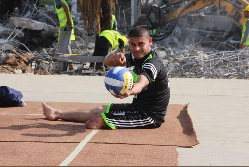 الرياضيين في يوم المعاق الفلسطيني